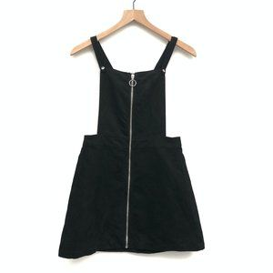 Divided by H&M Black Suede Overall Dress - Size 6